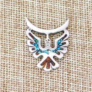 Vintage Southwestern 925 Silver Tribal Pendant